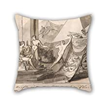 Cushion Cases Of Oil Painting Mauritius Lowe - An Allegory On The Plight Of The Artist For Home Office Floor Drawing Room Seat Divan Her 18 X 18 Inches / 45 By 45 Cm(twice Sides)