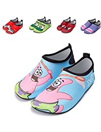 Kid's Swim Water Shoes Outdoor Breathable Anti-Slip Aqua Water Skin Shoes for Beach Fitness Yoga Exercise Boys Girls