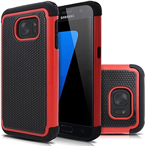 Galaxy S7 case, Milocos [Soft Silicone Series] Shock Absorbing Hybrid Best Impact Defender Cover Shell Plastic Outer & Rubber Silicone Inner Dual Layer Sales