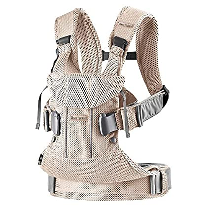Image of BabyBjorn Ergonomic One Air Cool Mesh Adjustable Baby Carrier (Pearly Pink) Baby
