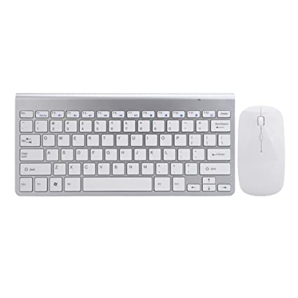 da25b16bad2 2.4G Wireless Keyboard and Mouse Combo Mini Portable Ultra-Thin Silent Mouse  and Keyboard