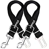 #5: Vastar 2 Packs Adjustable Pet Dog Cat Car Seat Belt Safety Leads Vehicle Seatbelt Harness, Made from Nylon Fabric