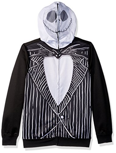 Disney Men's Jack Skellington Character Zip Front Hoodie,