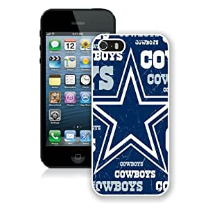 Dallas Cowboys 3 White Case Cover for iPhone 5 5S Grace and Cool Design