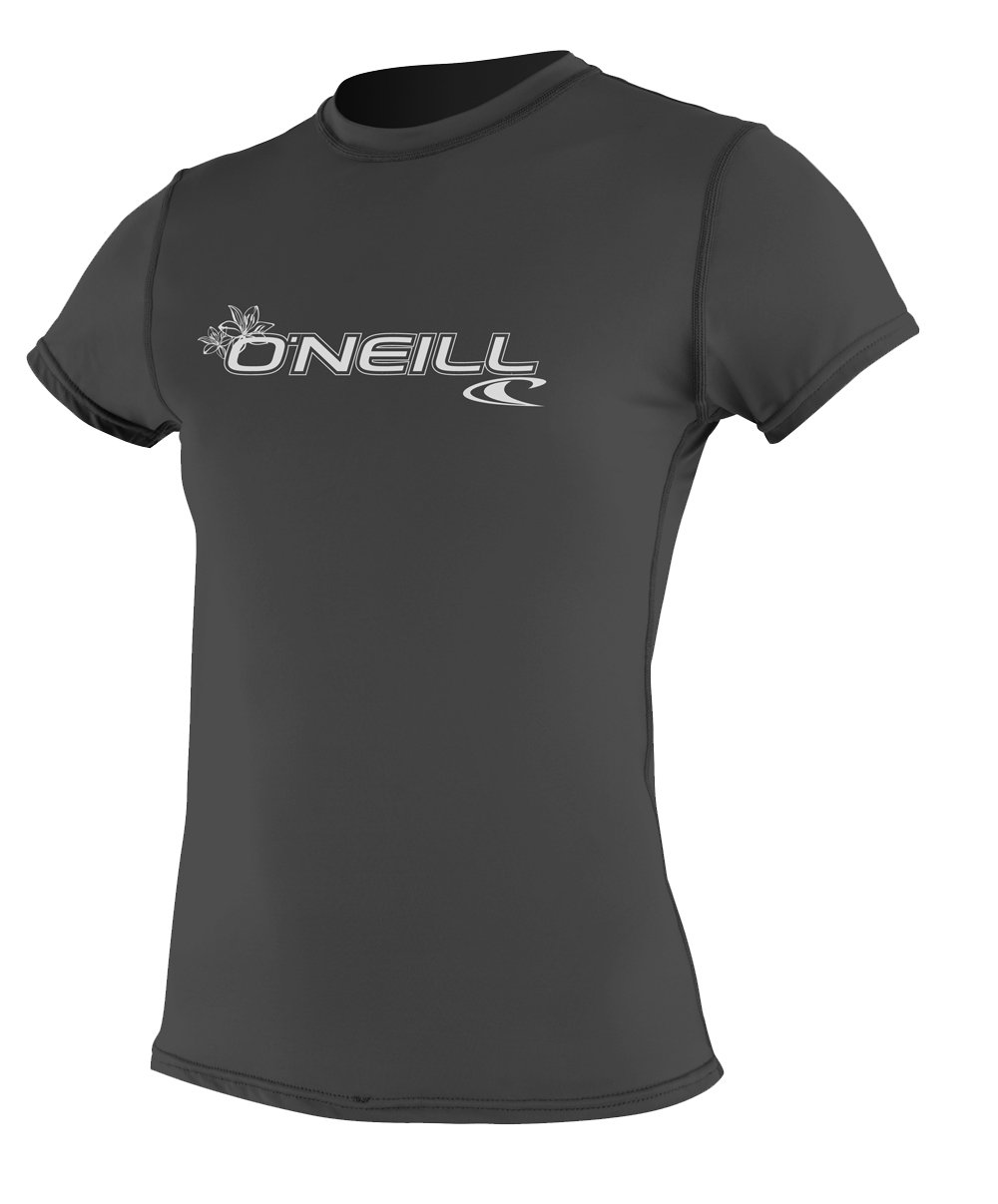 O'Neill  Women's Basic Skins Upf 50+ Short Sleeve Sun Shirt, Black, Large by O'Neill Wetsuits