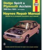 [Dodge Spirit and Plymouth Acclaim (1989-1995) Automotive Repair Manual] (By: Robert Maddox) [published: October, 1995]