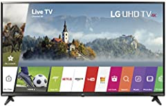 Ultra HD 4K colour and clarity are now within reach, in a range of popular screen size. The UJ6300 series offers premium features including LG Smart TV with webOS 3.5 and HDR Active.