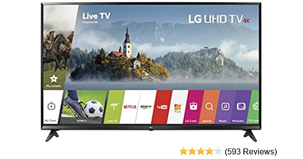 Amazon LG Electronics 49UJ6300 49 Inch 4K Ultra HD Smart LED TV 2017 Model