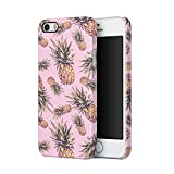 Tropical Pineapples Ananas Aloha Hawaii Indie Pink Pastel Print Pattern Tumblr Apple iPhone 5, iPhone 5s, iPhone SE Plastic Phone Protective Case Cover