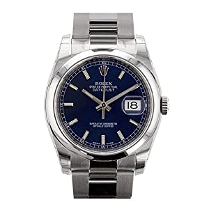 Best Epic Trends 513dLZjg6oL._SS300_ Rolex Datejust 36mm Blue Dial Stainless Steel Watch 116200