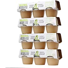 Zee Zees Applesauce Cups, 4 oz Cups, 24 pack (Unsweetened Pearsauce)