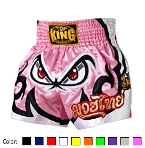 - KINGTOP Top King Satin Boxing Shorts TKTBS-052 Pink, Large