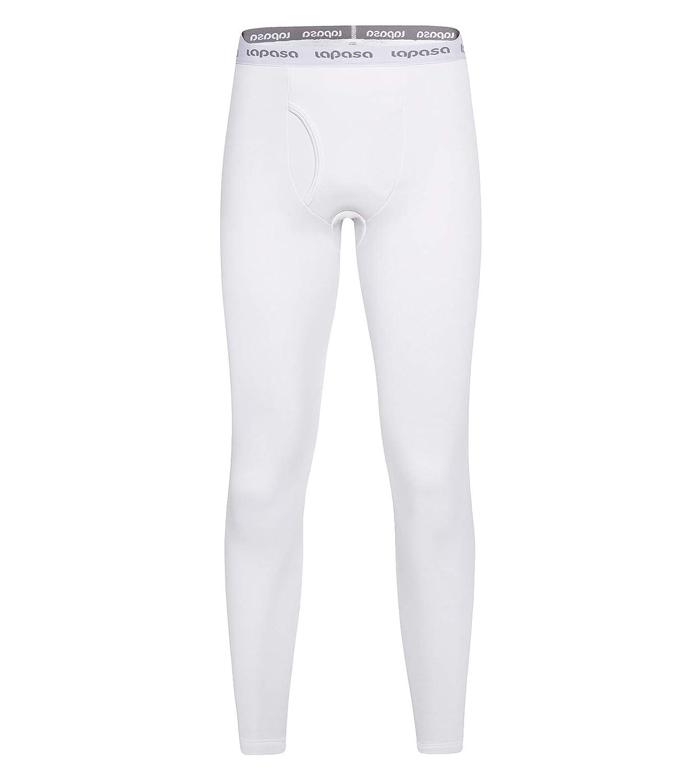 LAPASA Men/'s Thermal Underwear Pants Fleece Lined Long Johns Leggings Base Layer