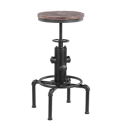 Groovy Amazon Com Metal Industrial Bar Stool Height Adjustable Ibusinesslaw Wood Chair Design Ideas Ibusinesslaworg