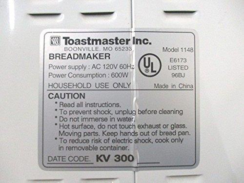 Nueva paleta de amasado para Toastmaster modelo # 1148 panera pan ...