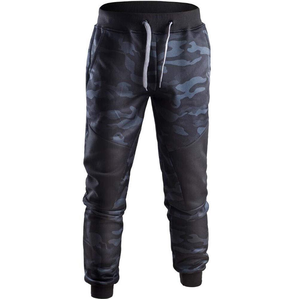 LuckyGirls Pantalones de Gimnasio para Hombre Camuflaje Splicing ...