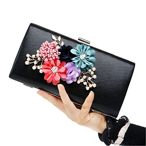 QEQE Bag 1 Ladies' Fashion Bag Women's Floral Bag Color Evening Dinner 4 Deluxe Ladies Clutch Evening rSqrU1I
