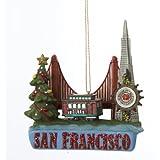 Kurt Adler City Travel San Francisco Ornament, 3.5-Inch