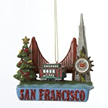 Kurt Adler City Travel San Francisco Ornament, 3.5-Inch