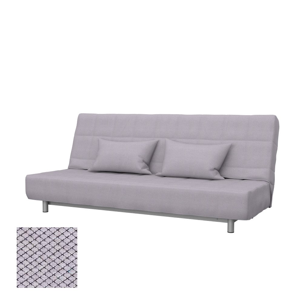 Soferia - Bezug fur IKEA BEDDINGE 3-er Bettsofa, Nordic Light Grau
