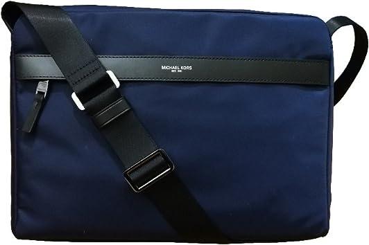 Michael Kors Mens Kent Large Nylon Messenger Bag Indigo