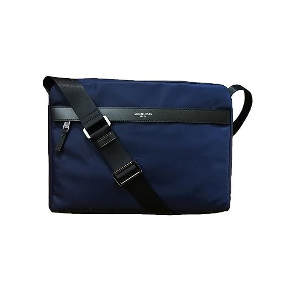 2ffa42b673 Michael Kors Mens Kent Large Messenger Bag Indigo  Amazon.co.uk  Clothing