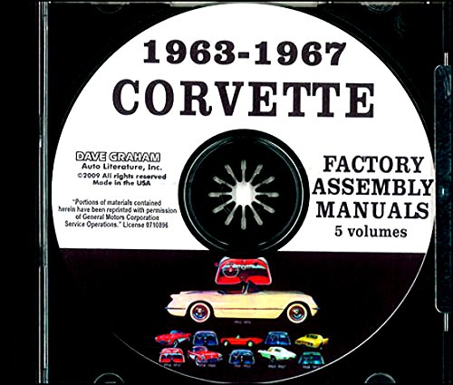 FULLY ILLUSTRATED 1963 1964 1965 1966 1967 CHEVROLET CORVETTE FACTORY ASSEMBLY INSTRUCTION MANUAL CD IN 5 VOLUMES - INCLUDES ALL MODELS. 63 64 65 66 67. CHEVY (64 65 66 67 Corvette)