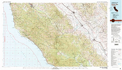 Point Sur CA topo map, 1:100000 scale, 30 X 60 Minute, Historical, 1982, updated 1982, 24 x 41.5 IN - - Springs Hot Creek Little Hot