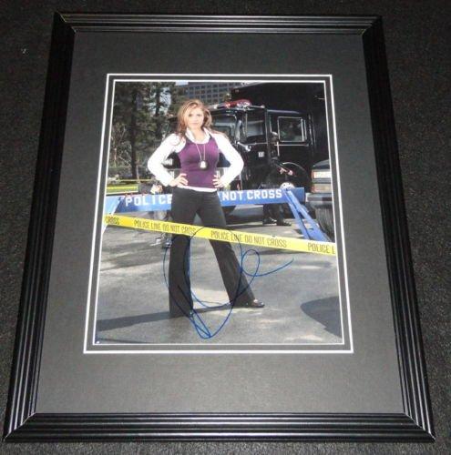 Raquel Alessi Signed Framed 8x10 Photo AW CSI