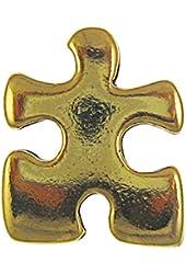 Puzzle Piece Gold Lapel Pin