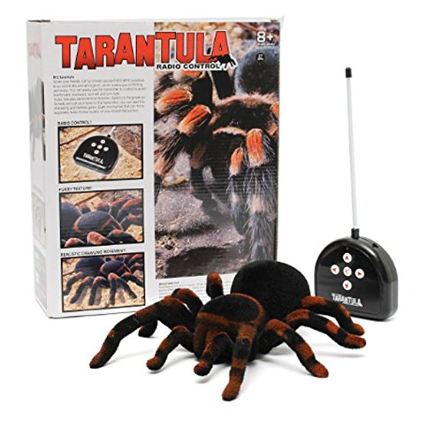 Radio Control Spider Scary Toy Remote Control 4CH Realistic Tarantula, rc electronics radio controlled toys, kids plush toys gift - Pranks Fools Home April Best