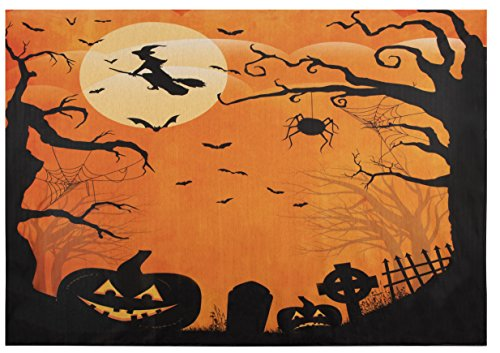 Halloween Photography Backdrop - Halloween Theme Photo Background, Tapestry, Spooky Night Photo Booth Prop, 5 x 7 Feet -