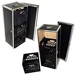 Drawer Workbox - 3 Milk Crate Drawer ATA Style Case w/Dolly Wheels
