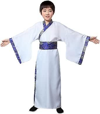 Yefree Traje Tradicional de Estilo Chino Hanfu de los Hombres del niño Traje de Tang de los niños del Hombre Retro