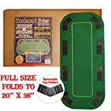 80 Inch Texas Holdem Folding Poker Table Top with Cup Holders - Includes 2 Bonus Decks of Cards!