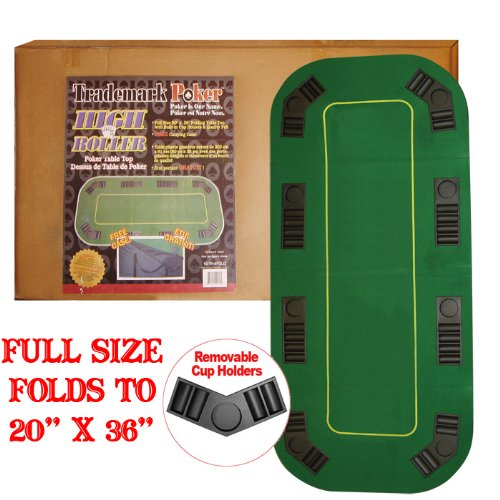80 Inch Texas Holdem Folding Poker Table Top with Cup Holders - Includes 2 Bonus Decks of Cards! by TMG