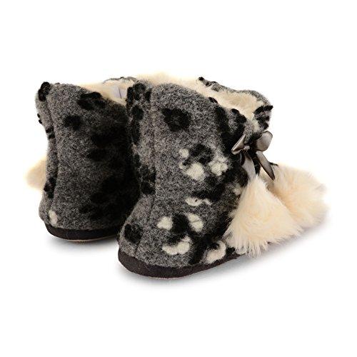 Dunlop - Zapatillas de estar por casa para mujer - Grey Pom