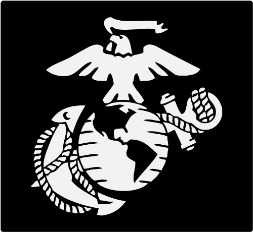 Ega Decal - Marine Corps - Eagle Globe & Anchor WHITE USMC Car Decal Window Stickers