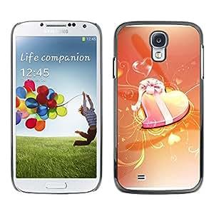 PC/Aluminum Funda Carcasa protectora para Samsung Galaxy S4 I9500 Love Orange / JUSTGO PHONE PROTECTOR