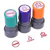 Best Teacher Stamps - COSMOS Pack of 3 Teachers Self-inking Rubber Stamps Review