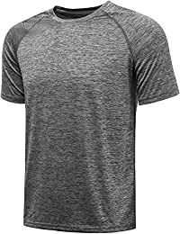 Sport T-Shirts for Men - Quick Dry Wicking - Running Tops Training Tee Short Sleeve Sportswear