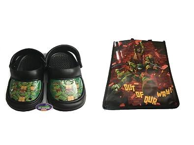 f4c6c748abbd Teenage Mutant Ninja Turtle Water Shoes Clogs Sandals Plus Tote Bag (5 6)