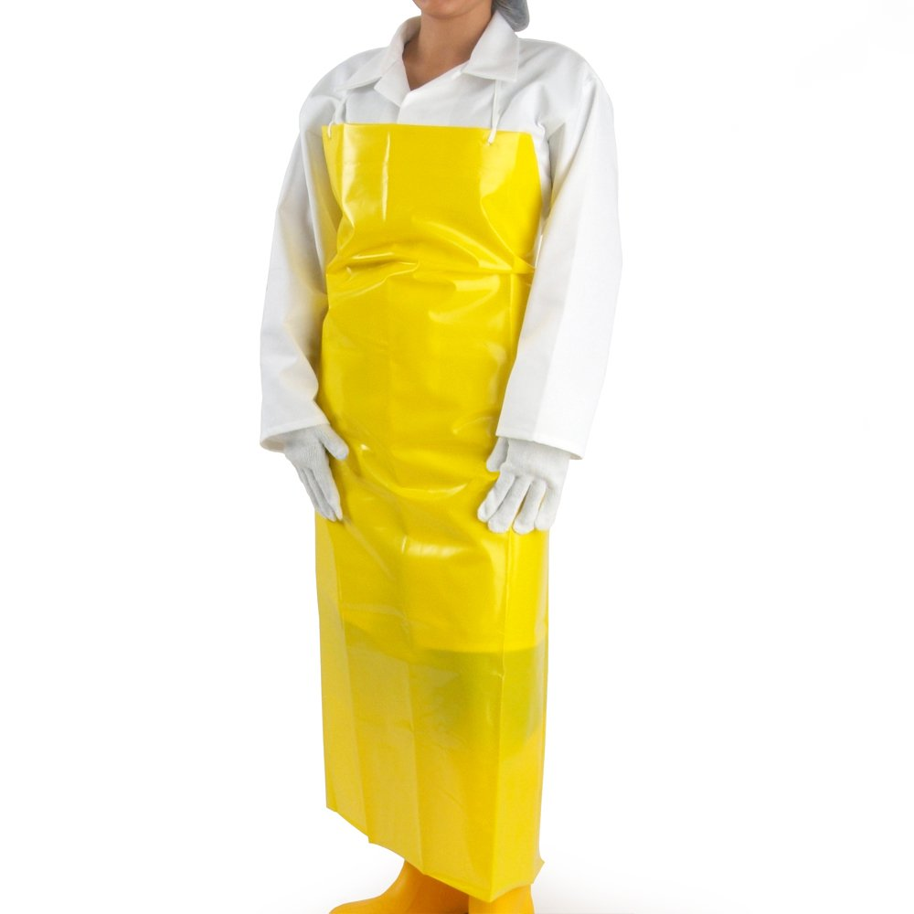 UltraSource 450021 VR Aprons, 4 mil, 35'' x 45'', Yellow (Pack of 100)