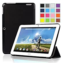 IVSO Slim Smart Cover Case for Acer Iconia A3-A20 10.1-Inch Tablet Not fit for A3-A10 10.1-Inch tablet(Black)