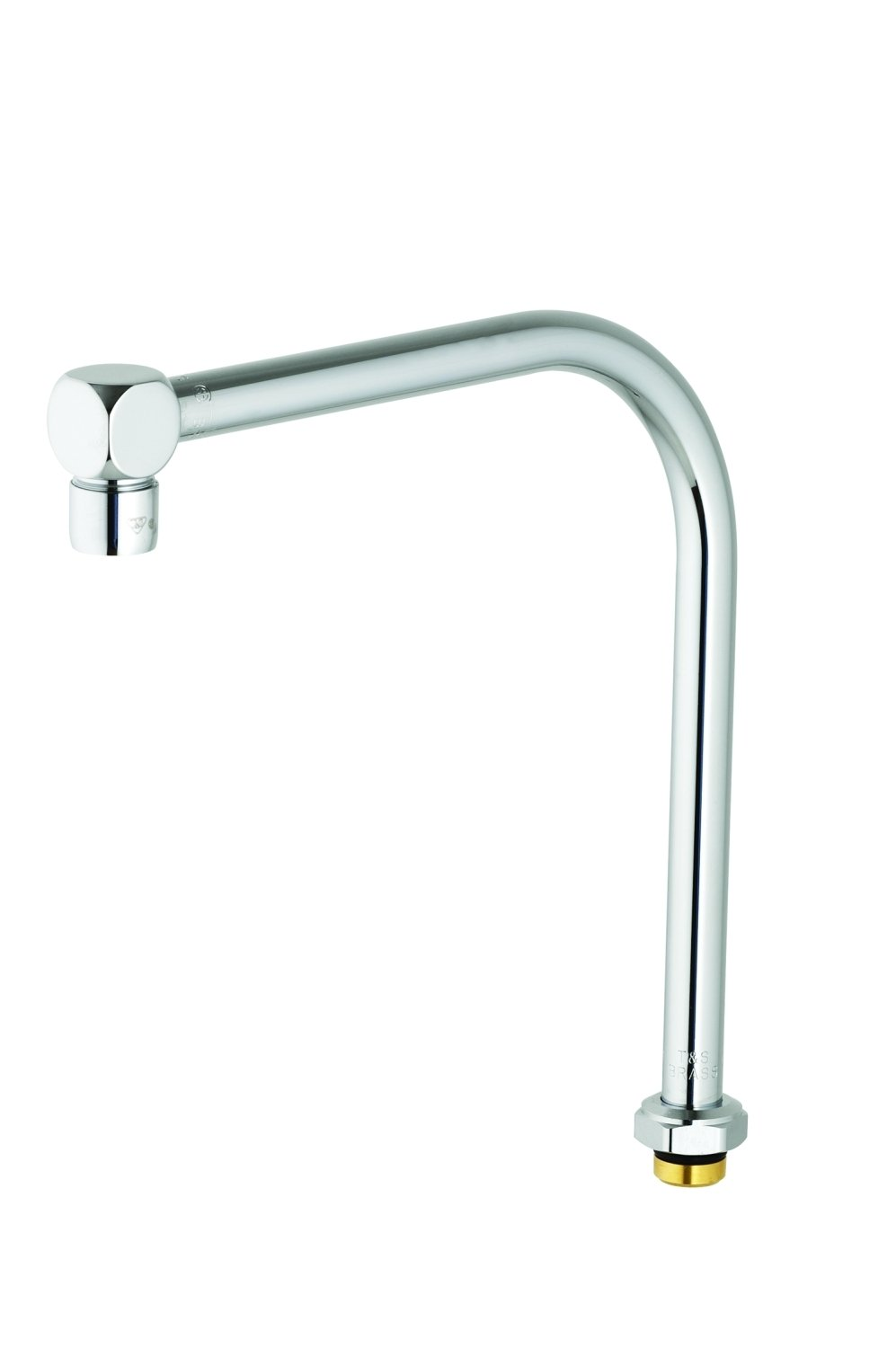 T&S Brass B-2403 Swivel Gooseneck Assembly with High Rise Swing Spout and Cube Style Aerator Outlet