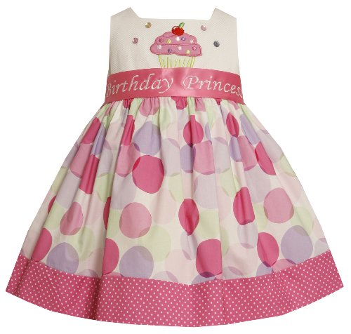 Bonnie Jean Little Girls' Cupcake Applique Cupcake Dress