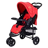 Baby Kids Travel Stroller 3 Wheel Foldable Buggy Pushchair Newborn Red Infant