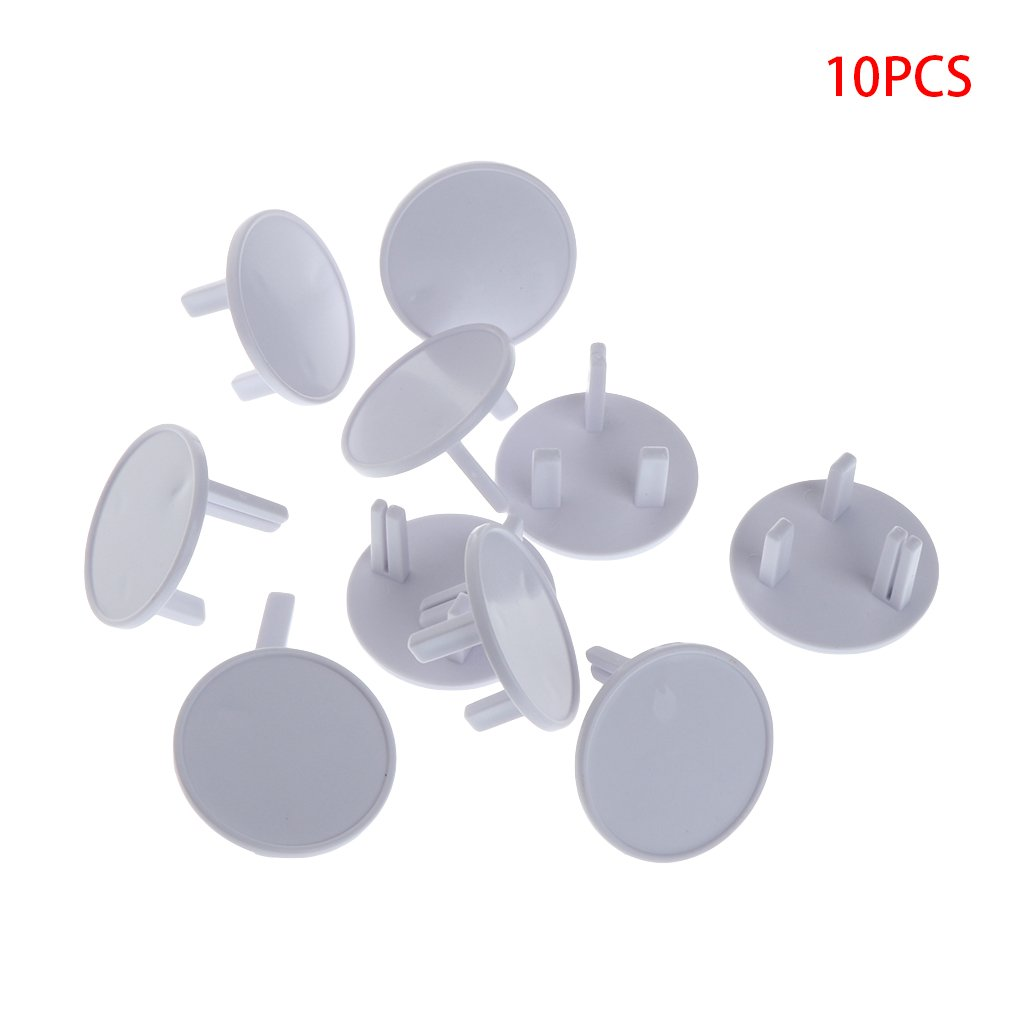 Manyo 10Pcs UK Power Socket Outlet Mains Plug Cover Baby Child Safety Protector Guard