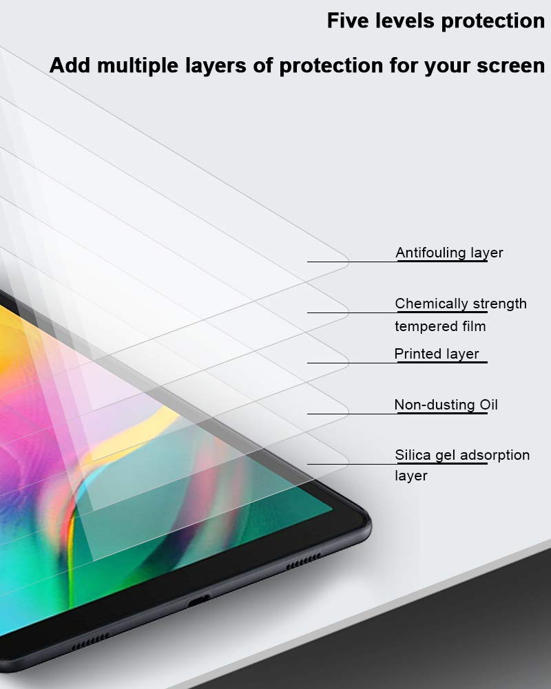 Clear Bubble Free SM-T725 Wi-Fi TopACE 9H Hardness Tempered Glass Compatible for Samsung Galaxy Tab S5e SM-T720 2019 Release LTE Samsung Galaxy Tab S5e Screen Protector