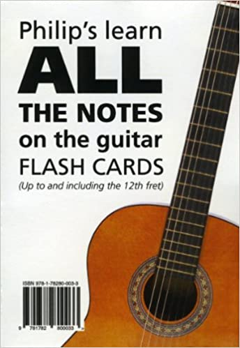 Philips Learn ALL the Notes on the Guitar Flash Cards Up to and ...